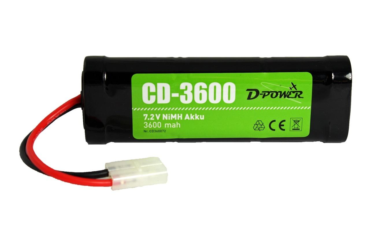 D-Power CD-3600 7.2V NiMH Akku