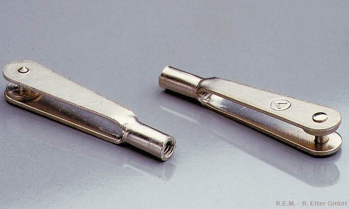 Stahlgabelköpfe 6 Stück M 3