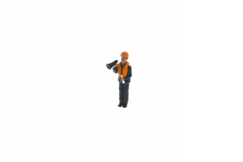 Werftarbeiter, stehend, mit Megaphone, 1 : 20