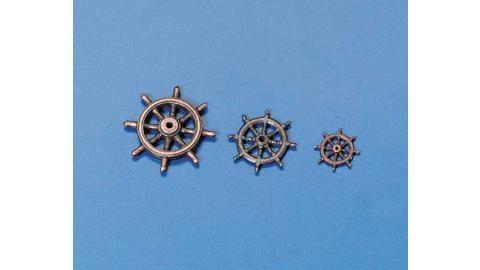 Ruderrad Metall brüniert 15 mm