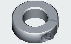 Alu-Klemmring für 4,0 mm Welle 5 Stück