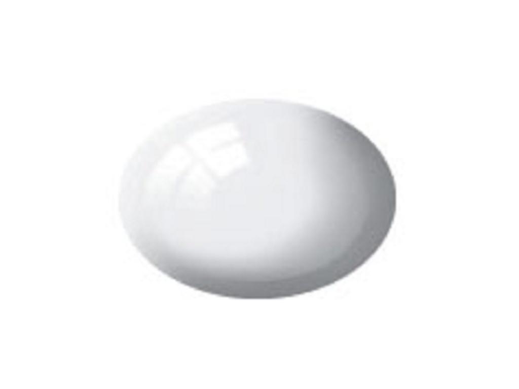 Aqua weiß, glänzend