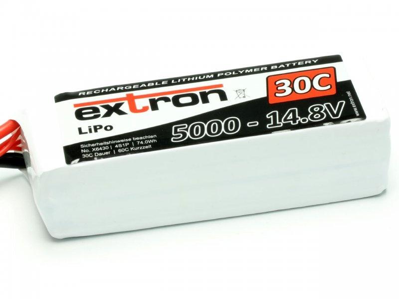 LiPo Akku Extron X2 4S 14,8V 5000mAh 30/60C TRX