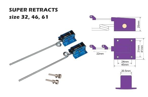Fahrwerk einziehbar - 2 Bein - für Modelle bis 5000g