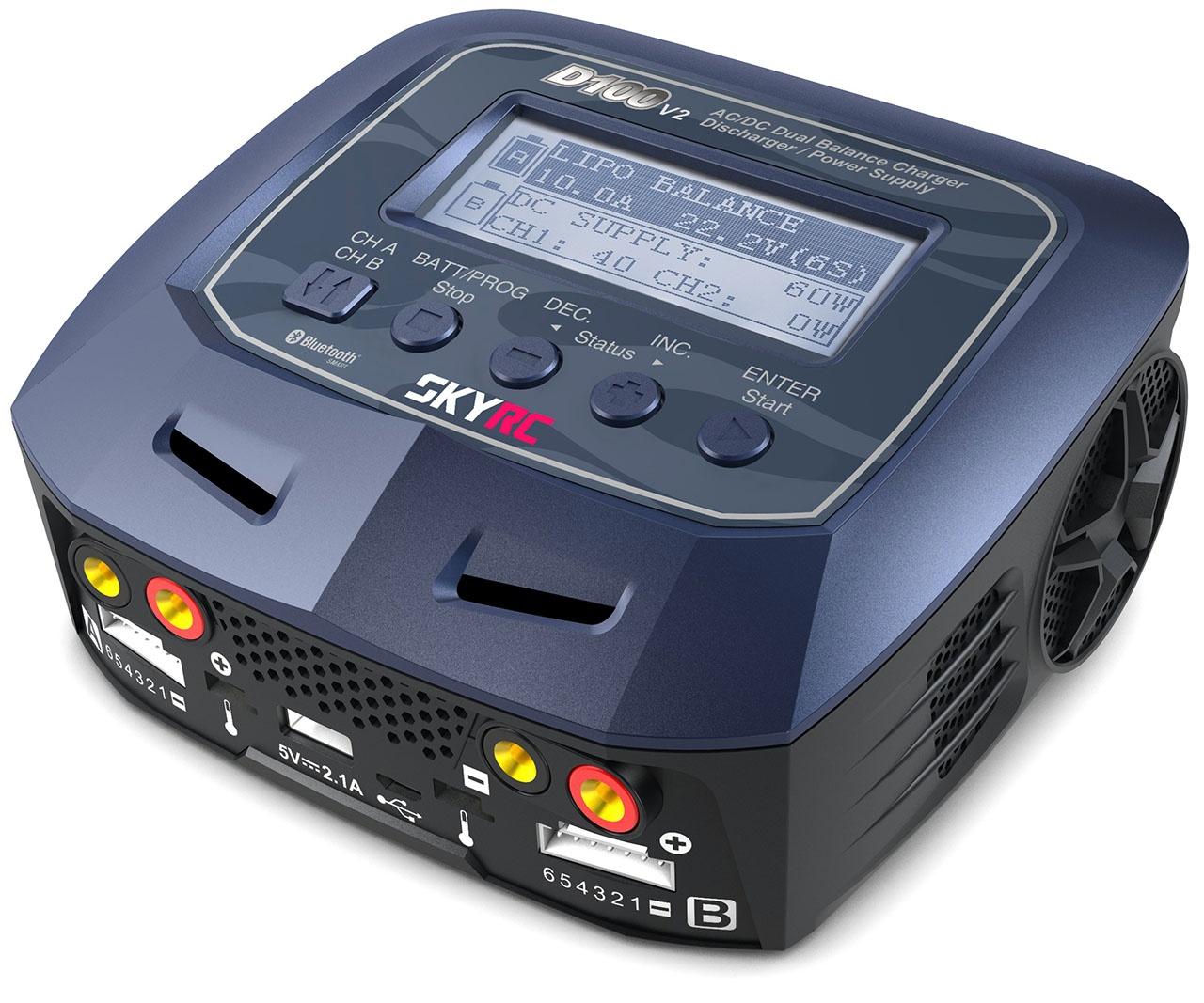Ladegerät D100 AC/DC DUO LiPo 1-6S 10A 100W