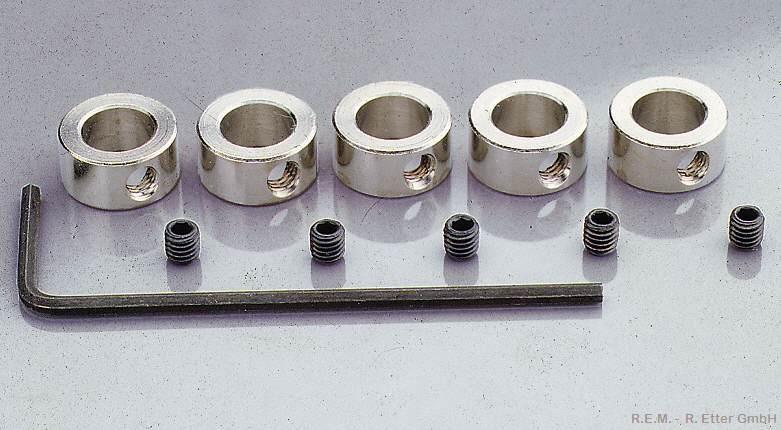 Stellringe 5 Stück 5 mm mit Stiftschraube