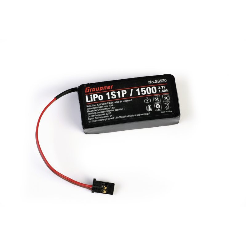 Senderakku für MZ-12 LiPo 1S/1500 mAh