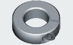 Alu-Klemmring für 8,0 mm Welle 5 Stück