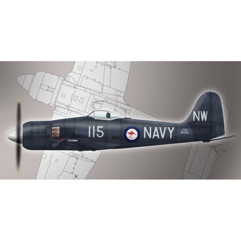 Sea Fury FB11 Hawker 1:72