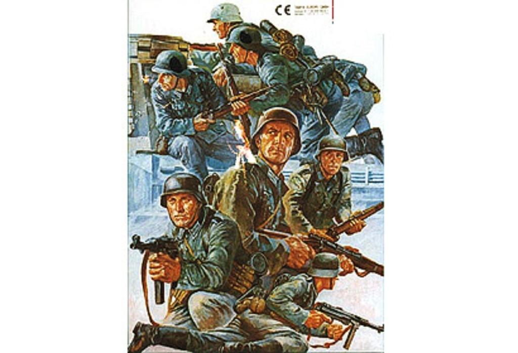 1:35 WWII Figuren-Set Deutsche Panzer Gre.