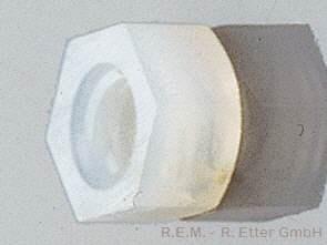 Nylon Sechskantmuttern 10 Stück M 4