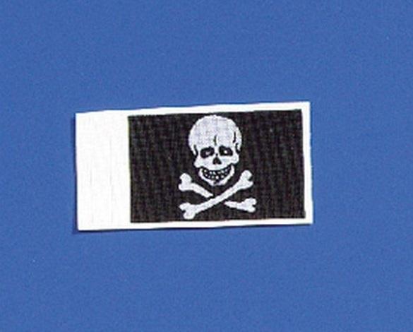 Flagge Totenkopf 20x30 mm