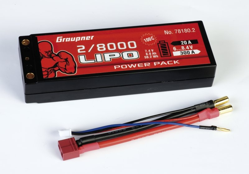 Power Pack Car Lipo 2S 8000 mAh 7,4V