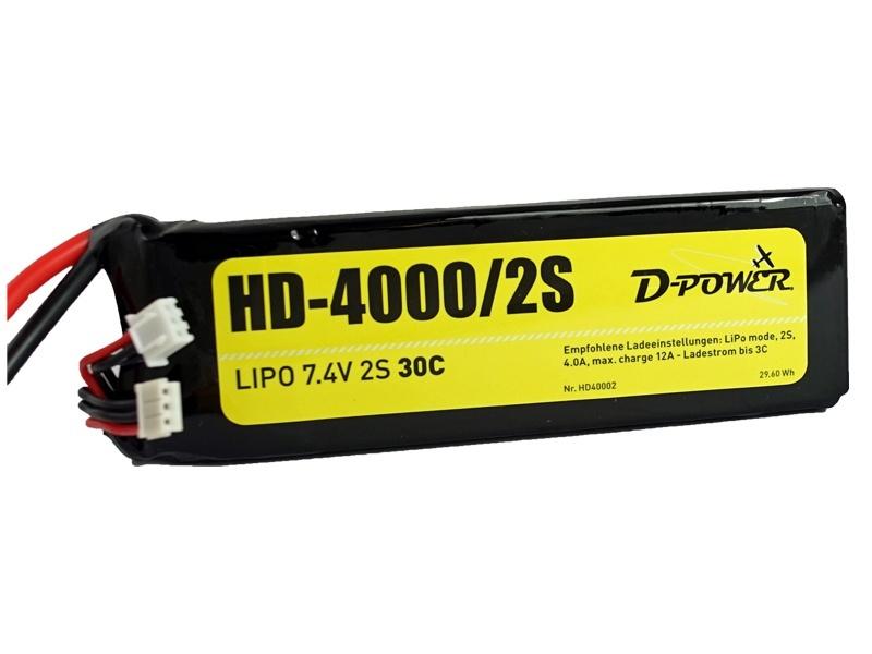 D-Power HD-4000 2S Lipo (7,4V)