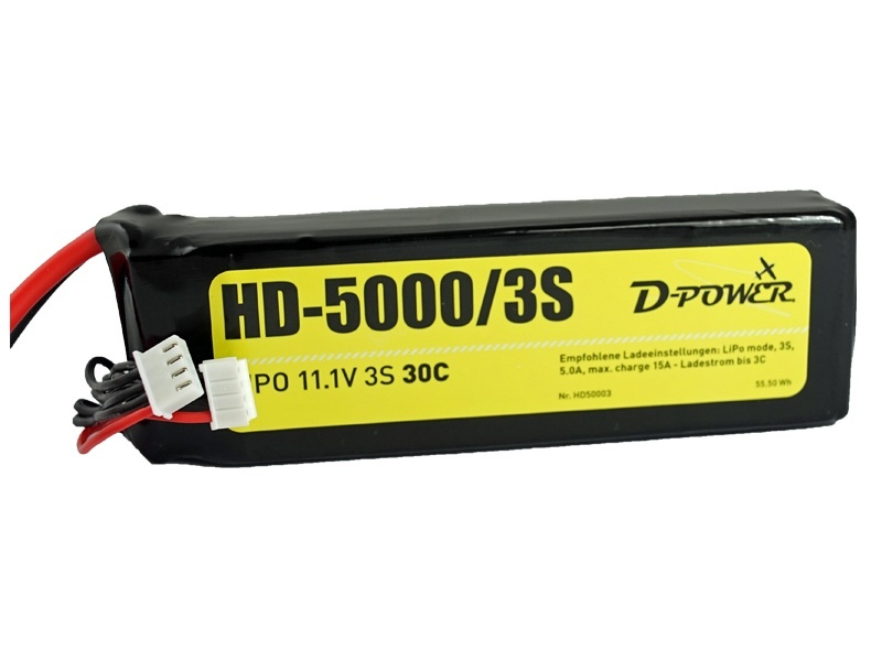 D-Power HD-5000 3S Lipo (11,1V) 30C