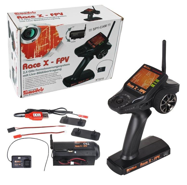 Fernsteuerung RACE X FPV mit Kamera u. Empfänger