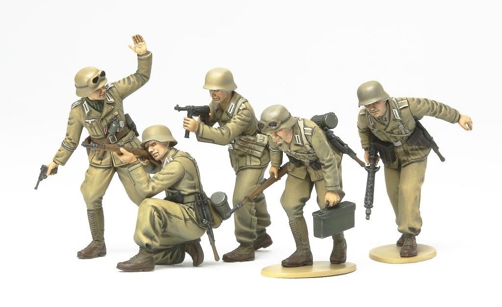 1:35 WWII Figuren.-Set Deutsche Afrika Korps Infanterie