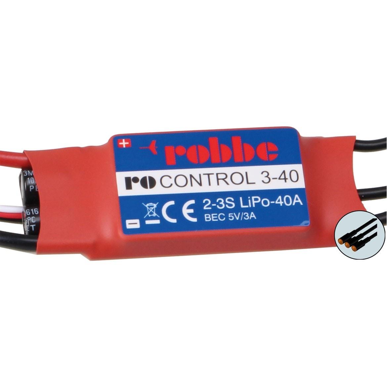 RO-CONTROL 3-40 2-3S -40(55)A BRUSHLESS REGLER 5V/3A BEC