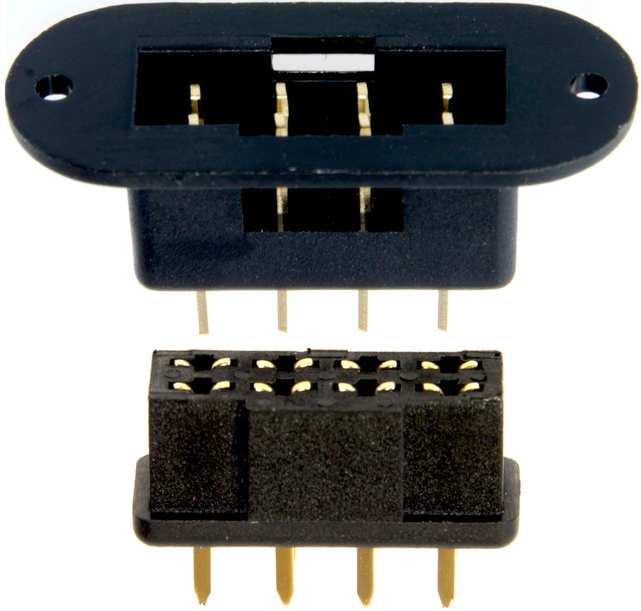 Tragflächenverbinder 8-Polig, 1-Paar schwarz