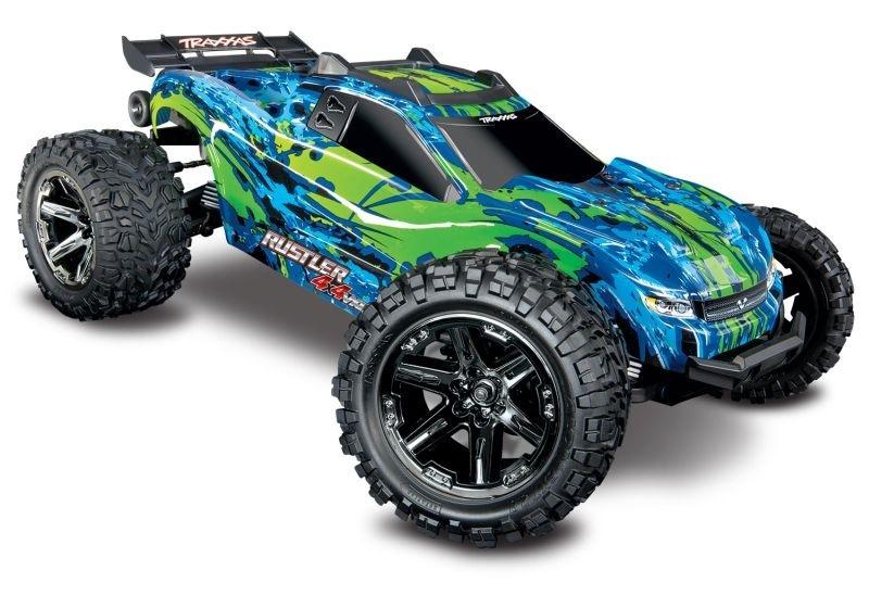 Traxxas Rustler 4x4 VXL grün/blau 1:10
