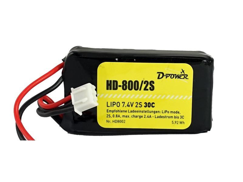 D-Power HD-800 2S Lipo (7,4V)