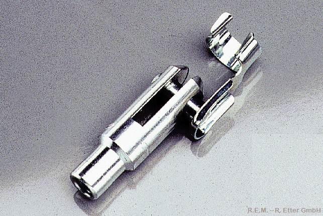 Gabelkopf Alu 2 Stück M 3 mit Sicherung