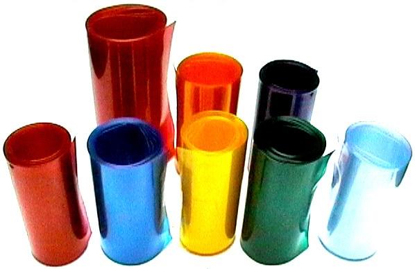 Schrumpfschlauch gelb/orange transparent PVC-hs