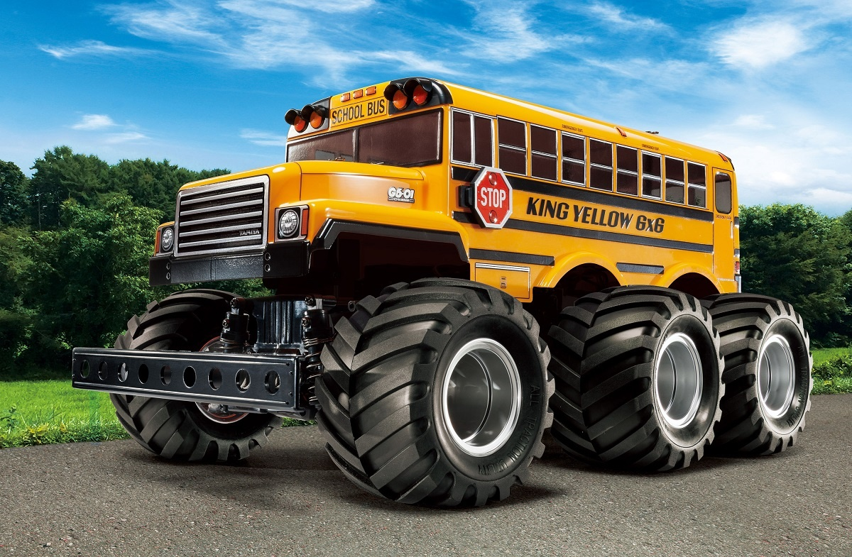 1:18 RC King Yellow 6x6 Bus (G6-01)