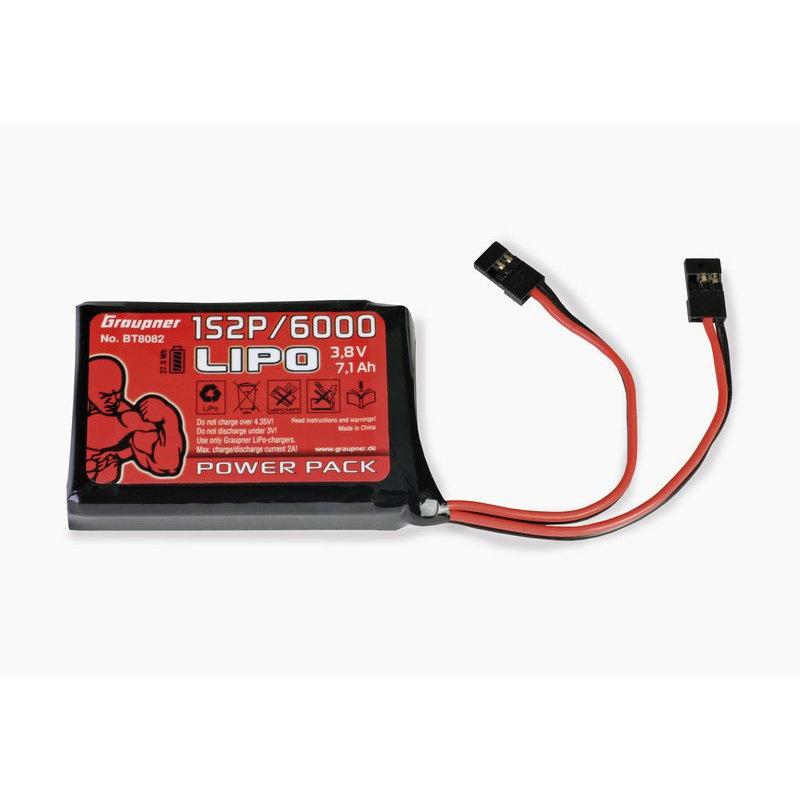 Senderakku LiPo 1S 2P/6000 3,8V