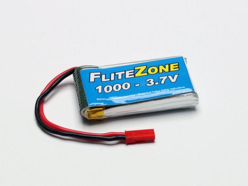 LiPo Akku FliteZone 1000mAh 1S 3,7V BEC