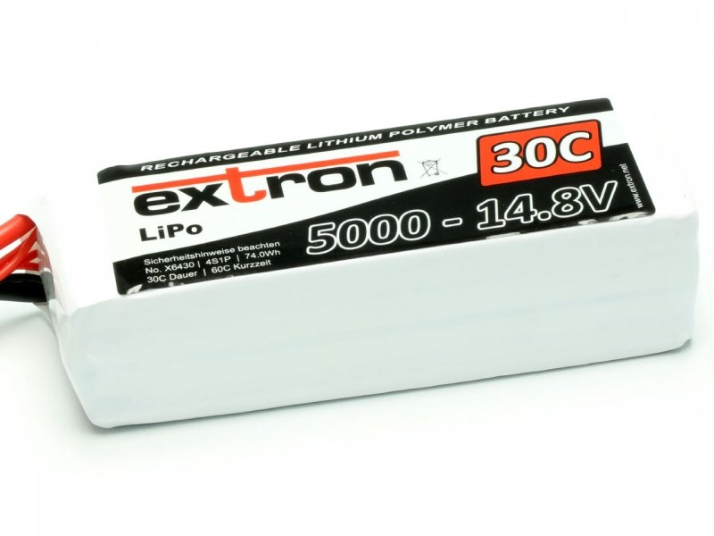 LiPo Akku Extron X2 4S 14,8V 5000mAh 30/60C XT-90