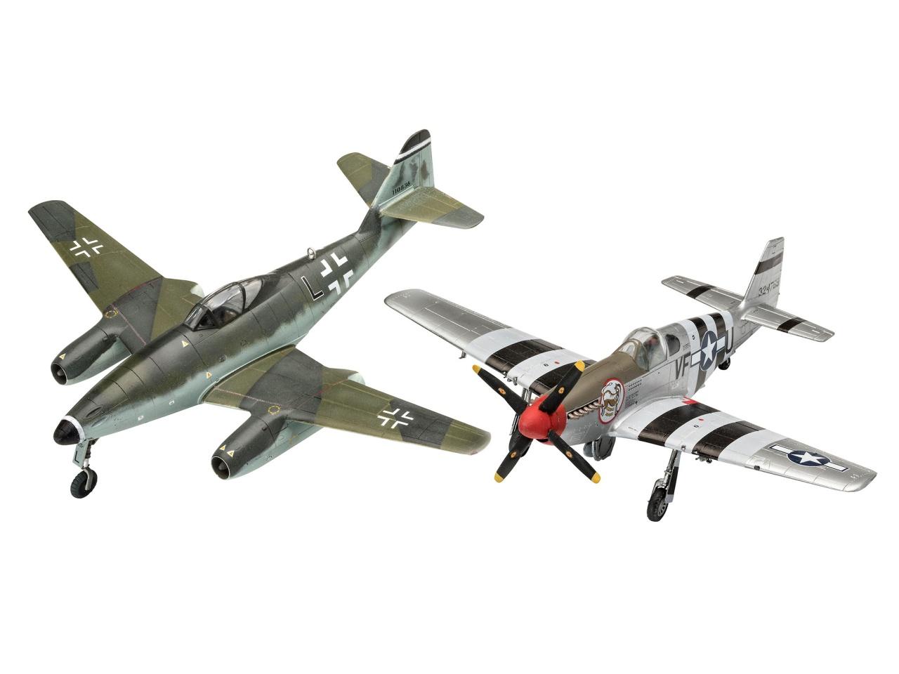Combat Set Me 262 & P-51