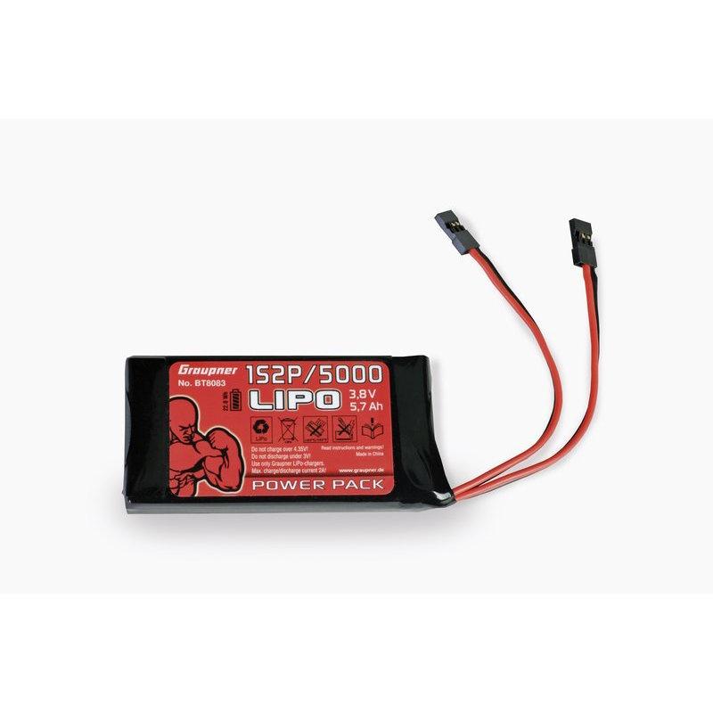 Senderakku LiPo 1S2P/5000 3,8V
