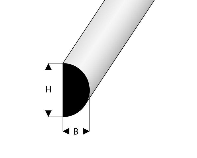 Scheuerleiste 6x5x2000 mm Moosgummi