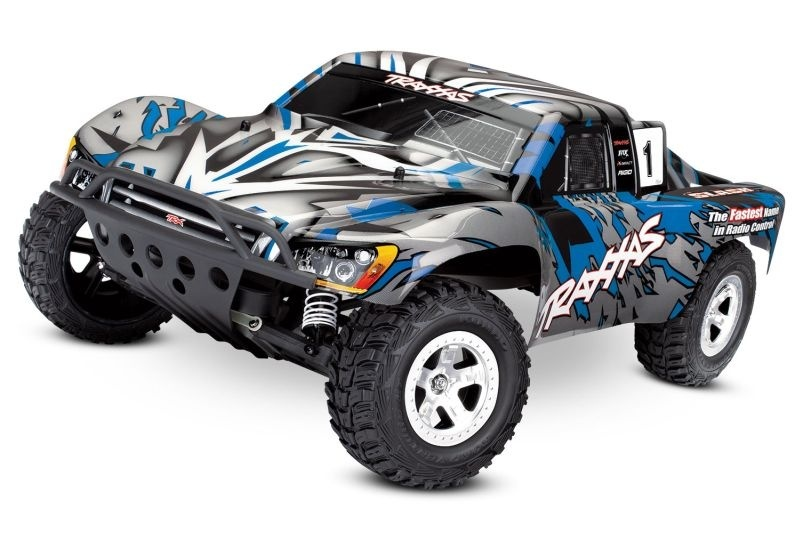 Traxxas Slash 2 WD blau-X 1:10 Short Course Truck